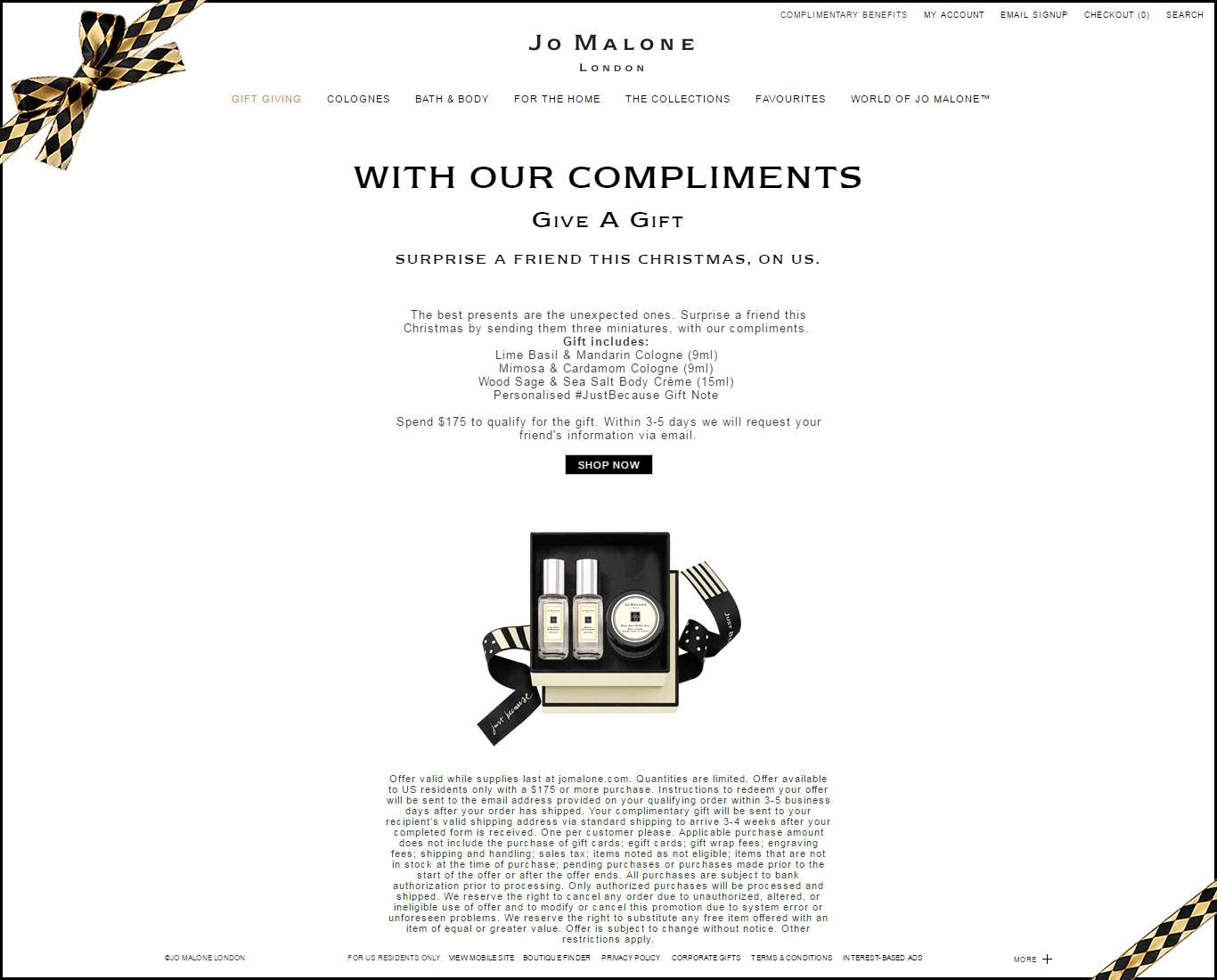 JoMalone_Landing Page