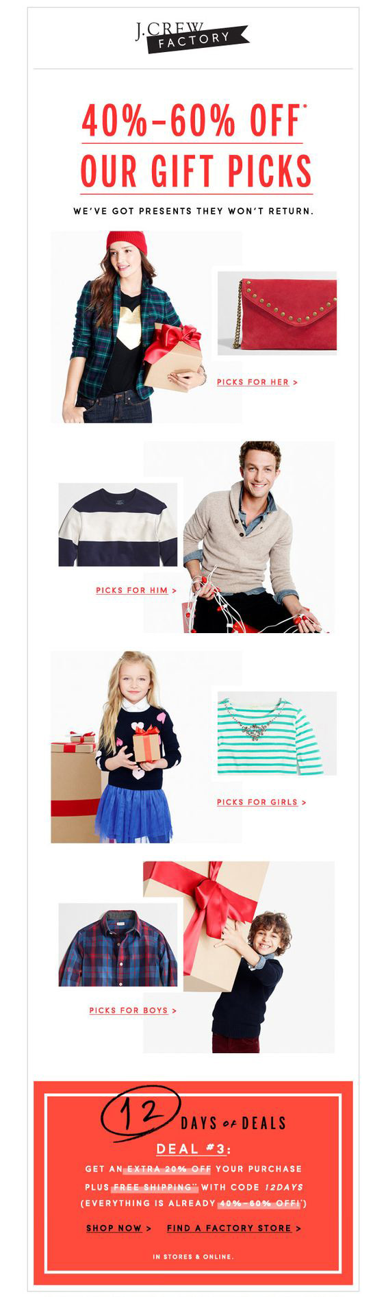 Holiday email marketing_J-Crew-Factory