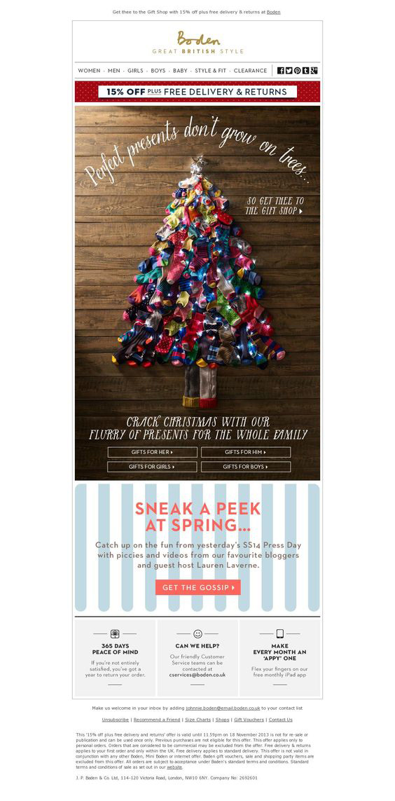 Holiday email templates_Boden