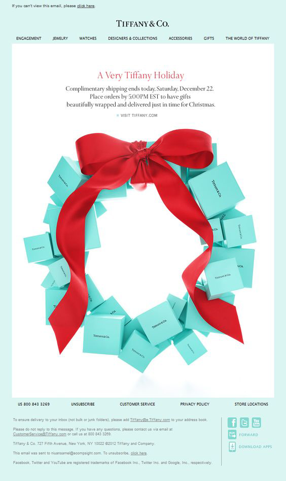 Holiday email templates_Tiffany