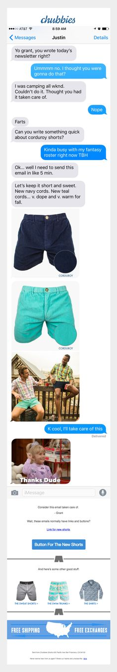 Email marketing strategy - Chubbies
