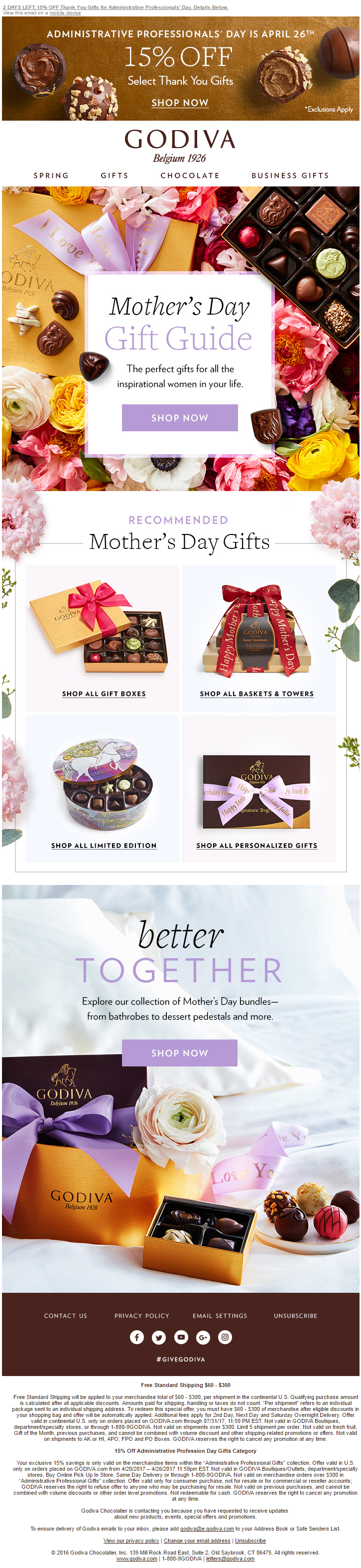 GODIVA - Mother's Day Email