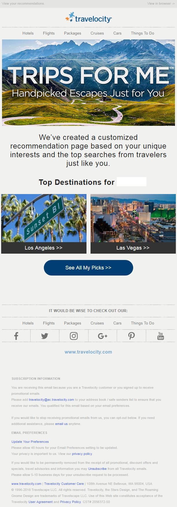 Travelocity Social Media
