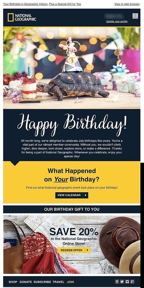 Nat geo birthday month
