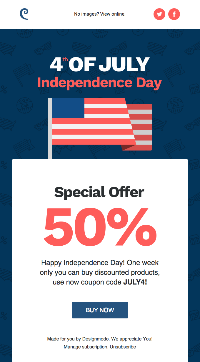4th of July Email Marketing Campaigns