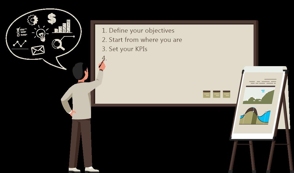 Step to winning illustration