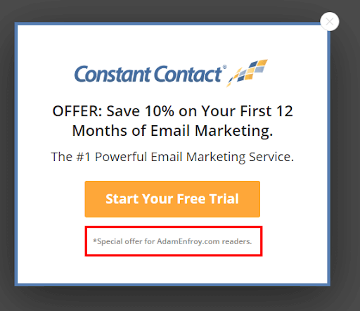 Constant contact email